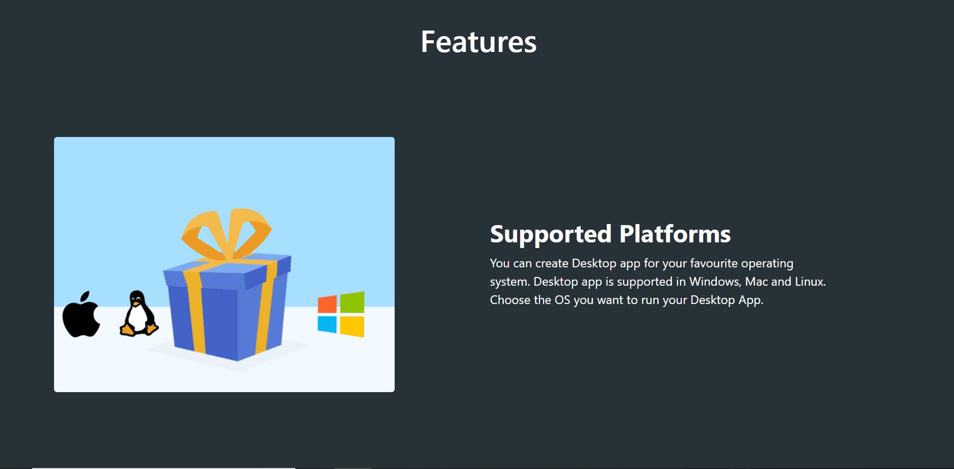 Windows Linux and mac desktop app get